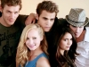 joseph morgan with the vampire diaries cast
