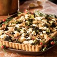 Roasted Vegetables in a Cheddar Crust