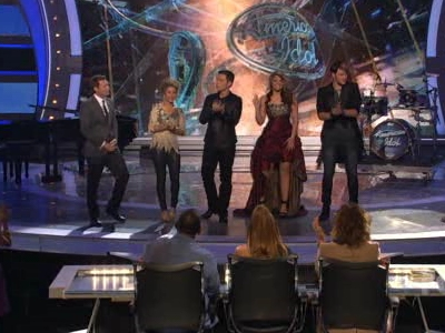 Ryan, Haley, Scotty, Lauren and James hit the stage.