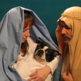 nativity scene family pic