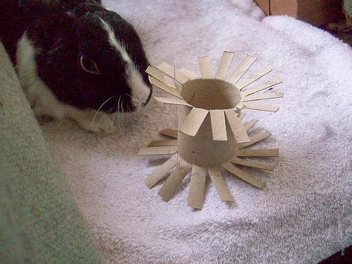 Игрушка для кроликов своими руками