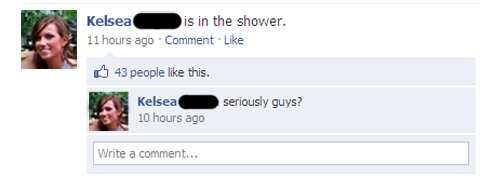 Hilarious Facebook Status