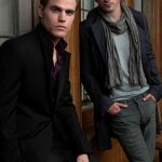 Ian and Paul Wesley. ( promo shot for The Vampire Diaries)