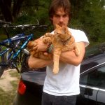 Ian and one of his furry friends.
