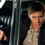 Jensen behind the wheel.