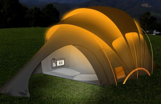Glow in the dark tent & Pimped Festival Tents