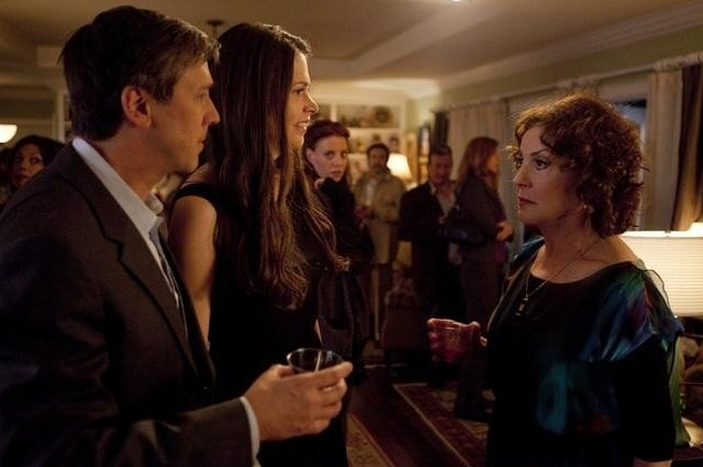 Alan Ruck, Sutton Foster, Kelly Bishop in a scene from Bunheads. Photo by Randy Holmes for Disney Enterprises Inc.