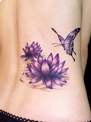 Lotus-Flower-Tattoos-butterfly