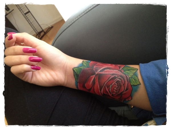 Rose Tattoo Around Wrist: 35 Flower Tattoos And What They Mean
