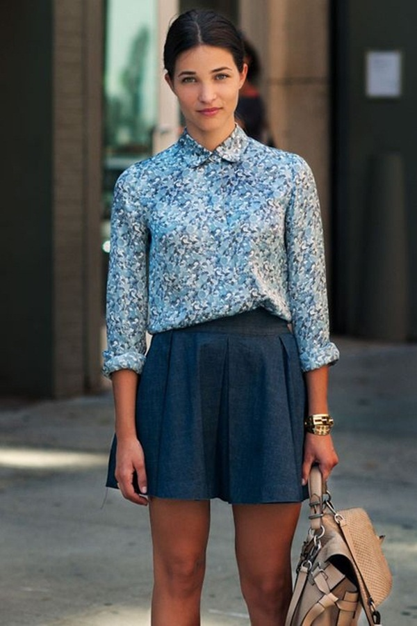 denim skirt outfits (10)