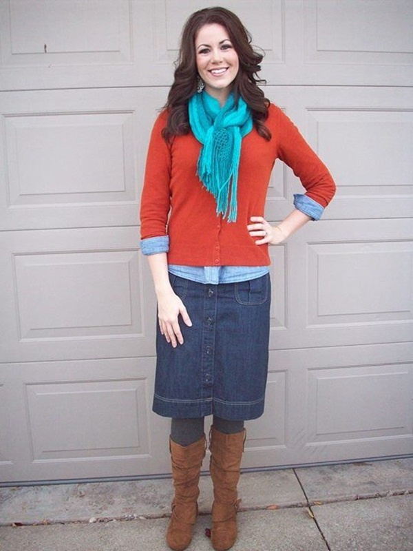 denim skirt outfits (12)