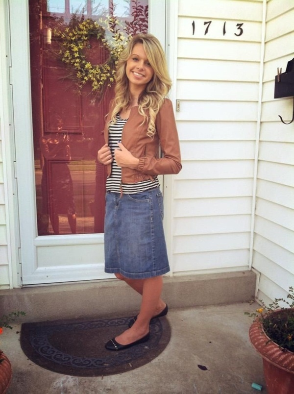 denim skirt outfits (13)