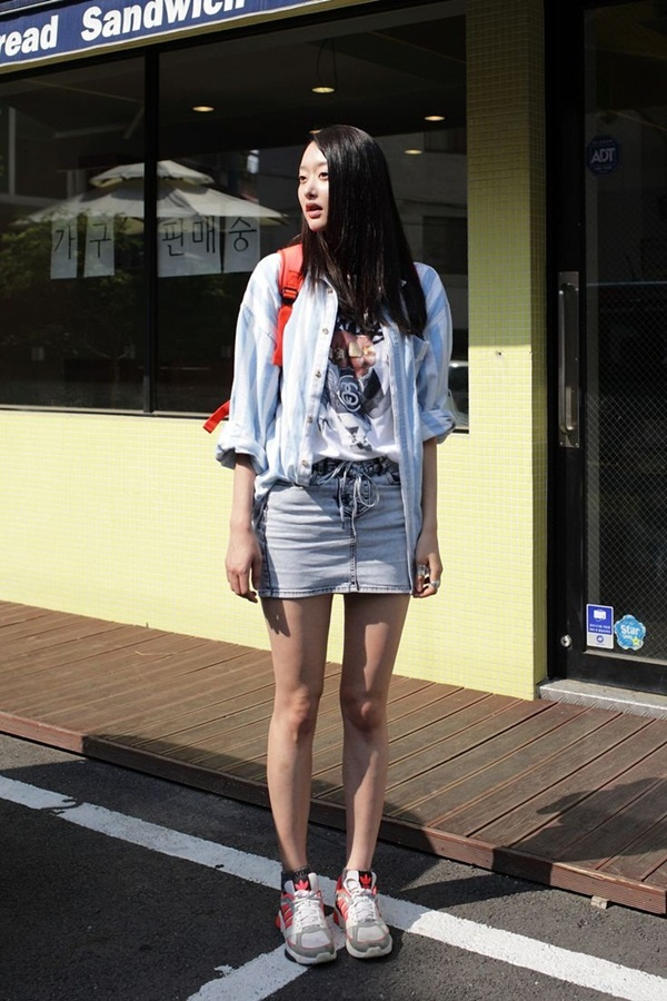 denim skirt outfits (22)