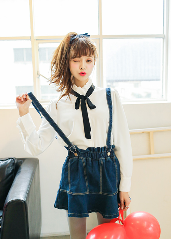 denim skirt outfits (3)