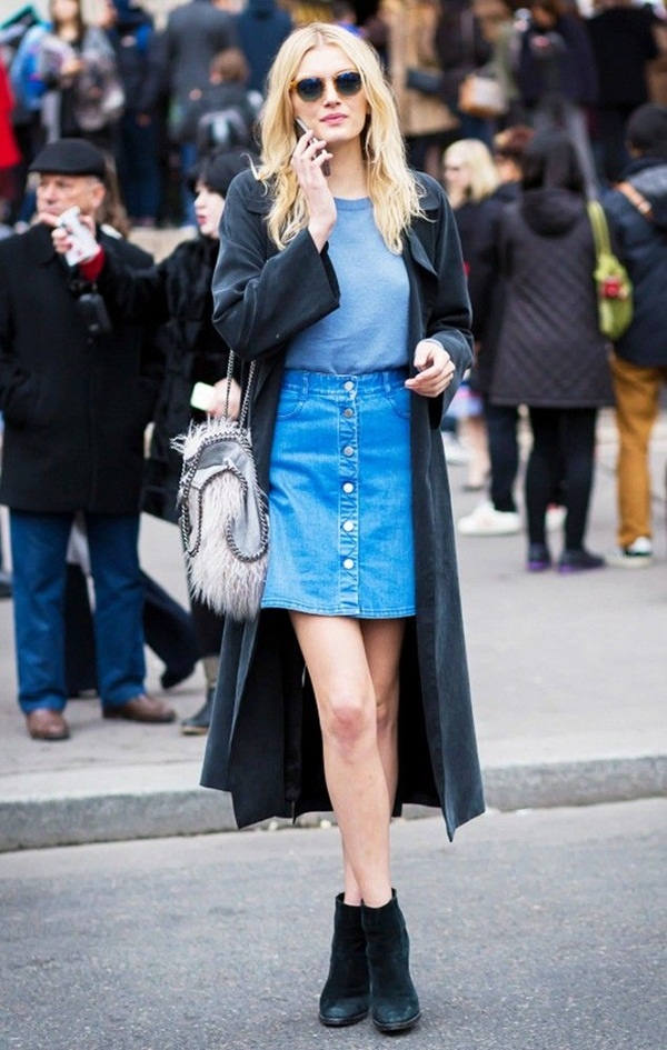 denim skirt outfits (39)
