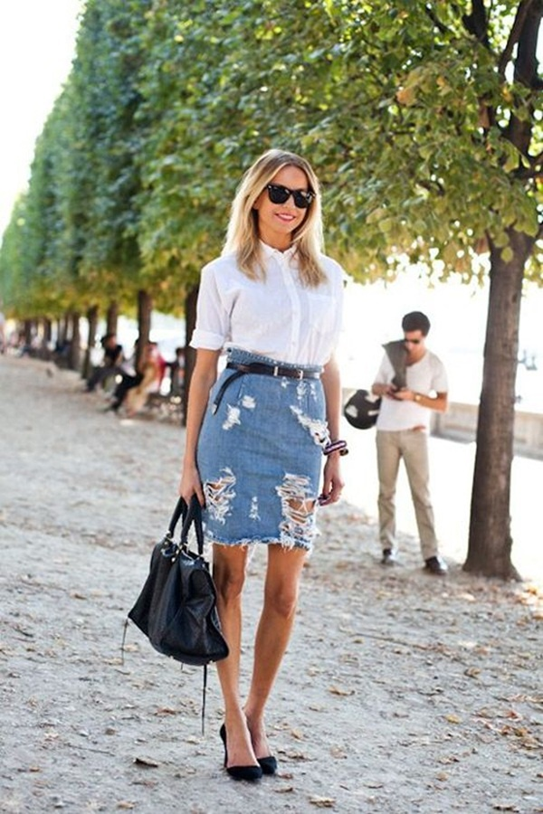 denim skirt outfits (41)