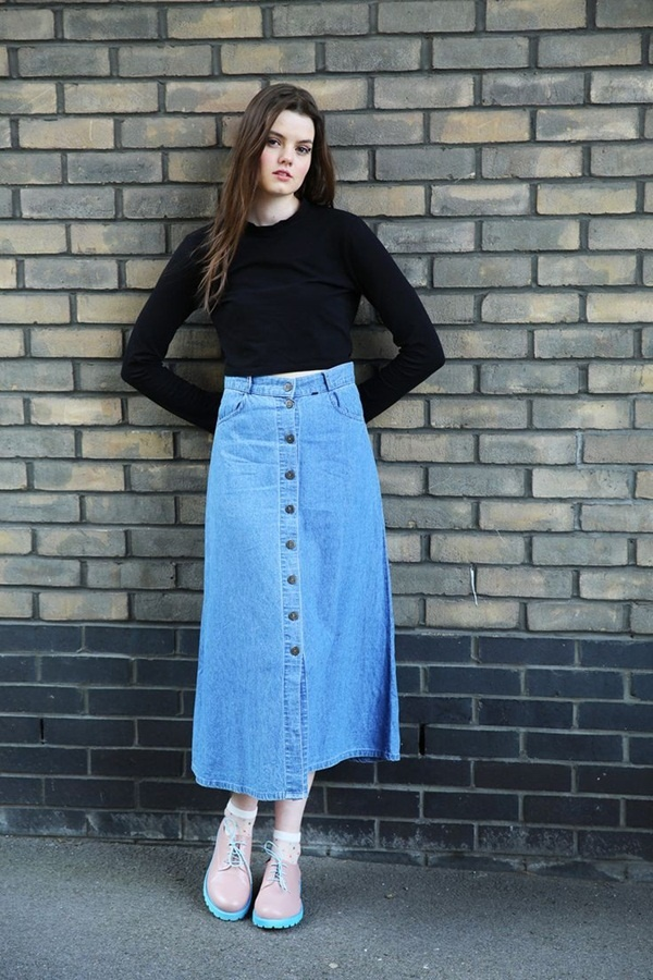 denim skirt outfits (52)