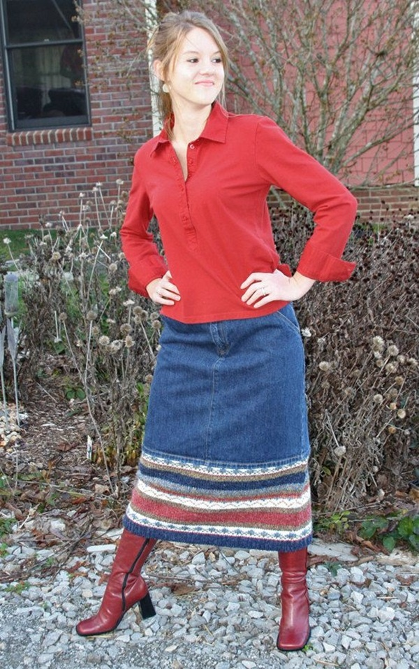 denim skirt outfits (54)