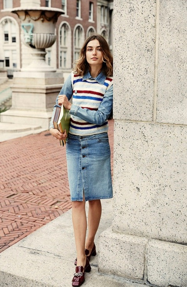 denim skirt outfits (71)