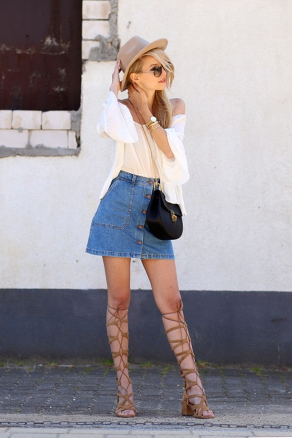 denim skirt outfits (79)