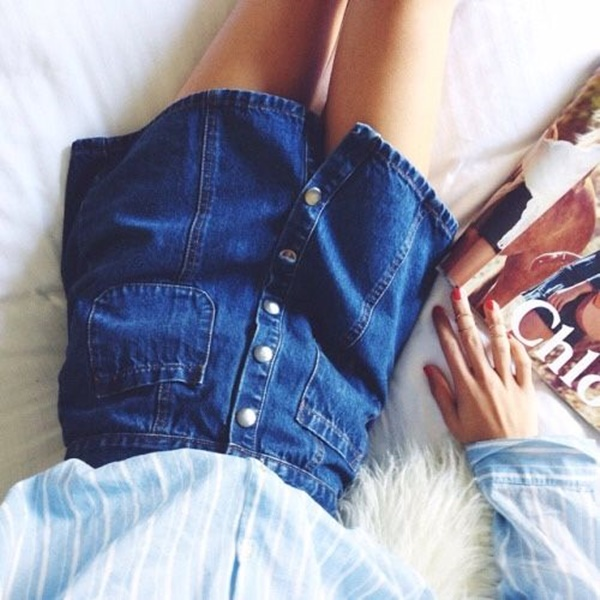 denim skirt outfits (86)