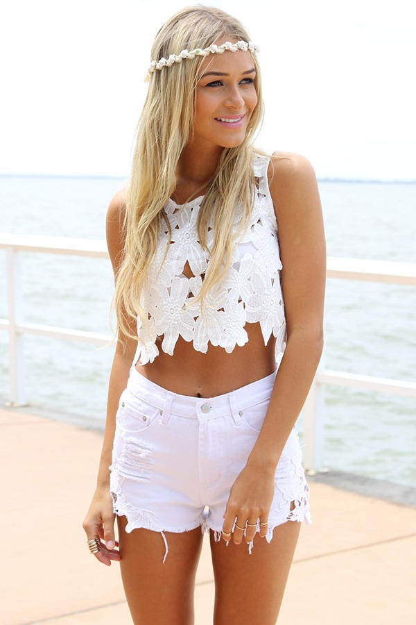 what to wear with high waisted shorts (1)