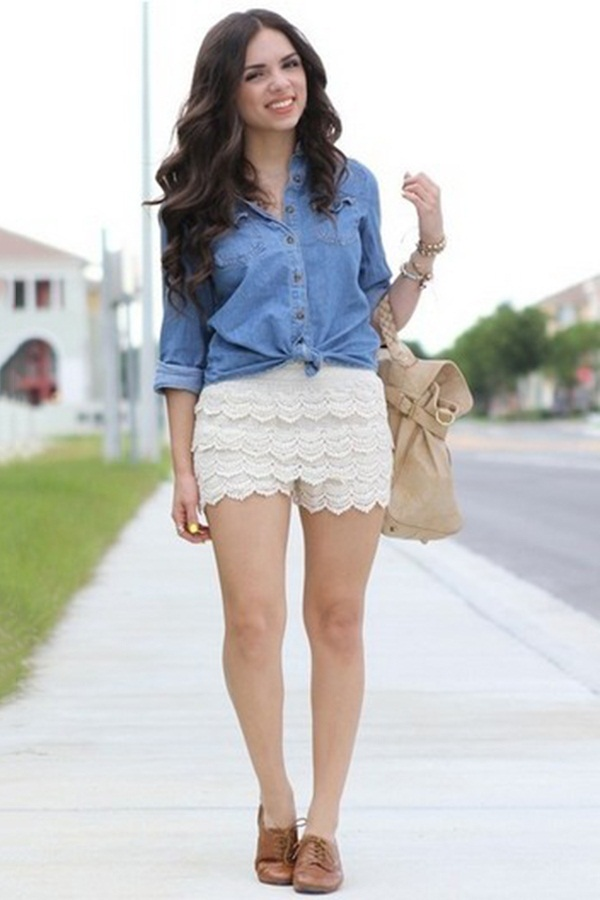 what to wear with high waisted shorts (110)