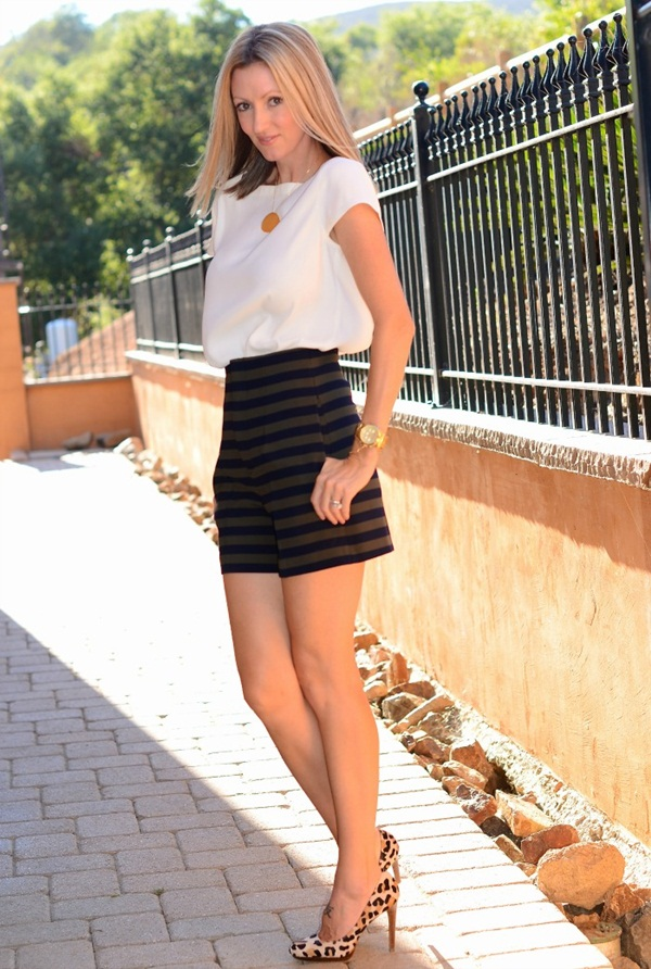 what to wear with high waisted shorts (112)