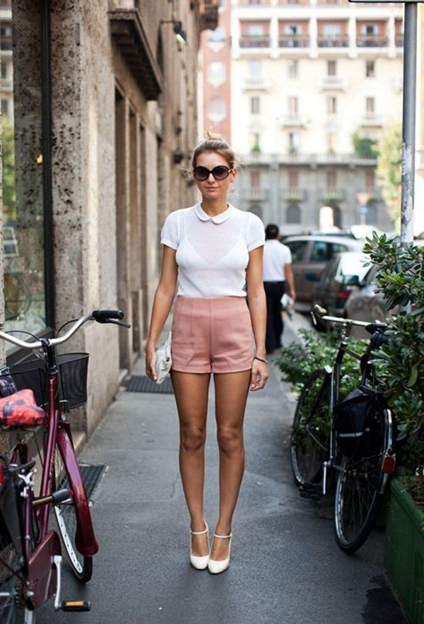 what to wear with high waisted shorts (12)