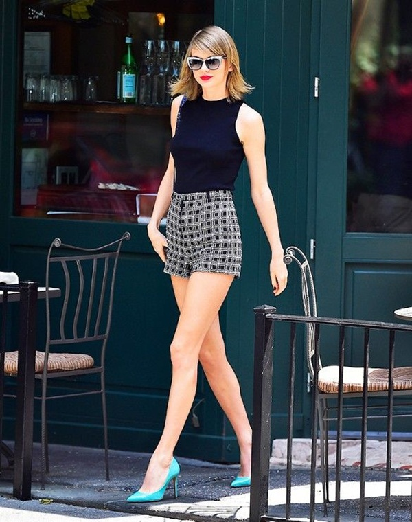 what to wear with high waisted shorts (47)