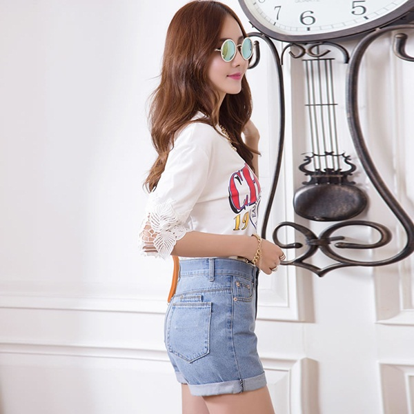what to wear with high waisted shorts (54)