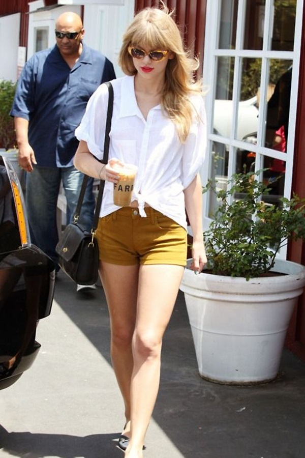 what to wear with high waisted shorts (6)