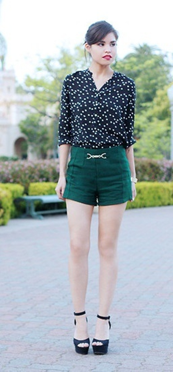 high waisted shorts how to wear