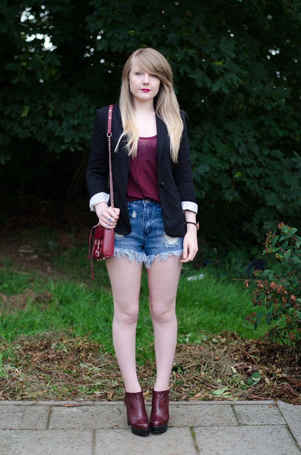what to wear with high waisted shorts (68)