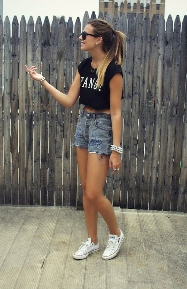 what to wear with high waisted shorts (70)