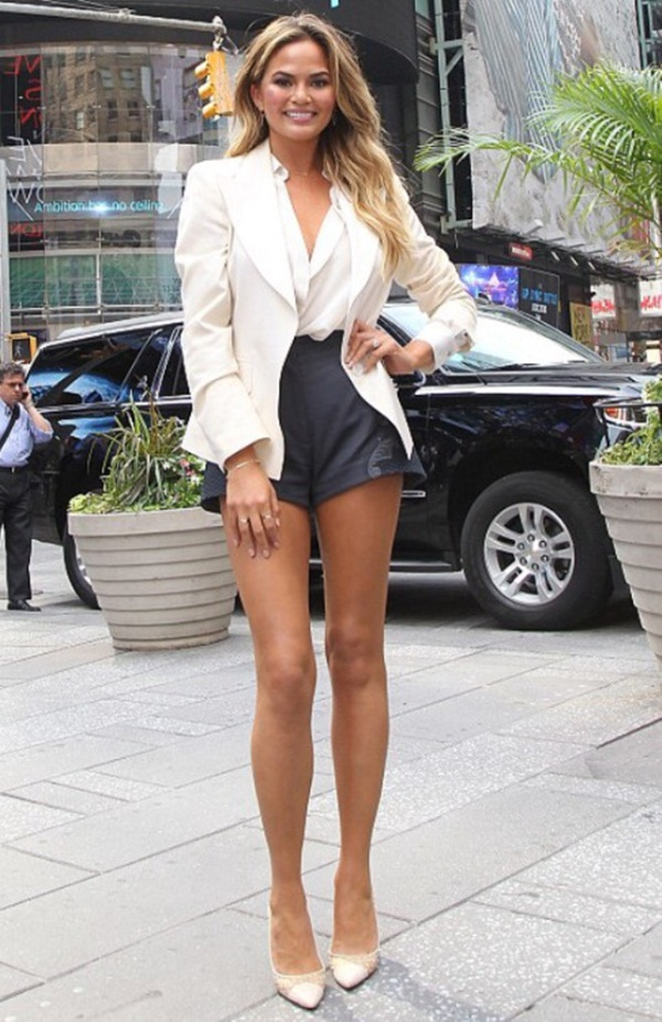 what to wear with high waisted shorts (88)
