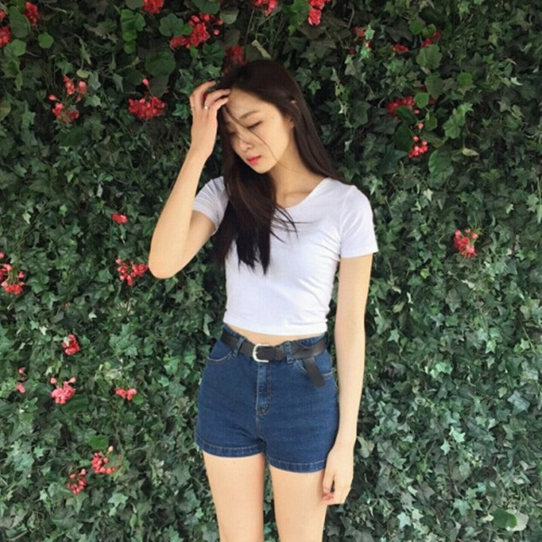 what to wear with high waisted shorts (99)