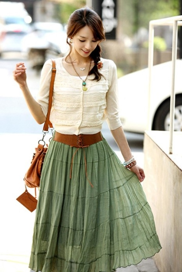 Cute Maxi Skirt Outfits | www.pixshark.com - Images Galleries With A Bite!