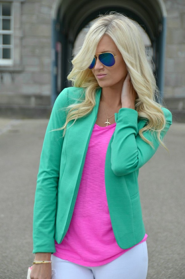brilliant neon green outfits