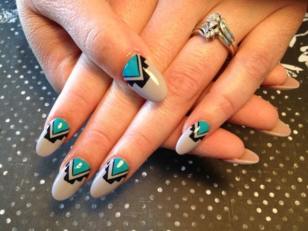 101 simple aztec nail art designs sheer and classic bohemian nail designs prinsesfo Images