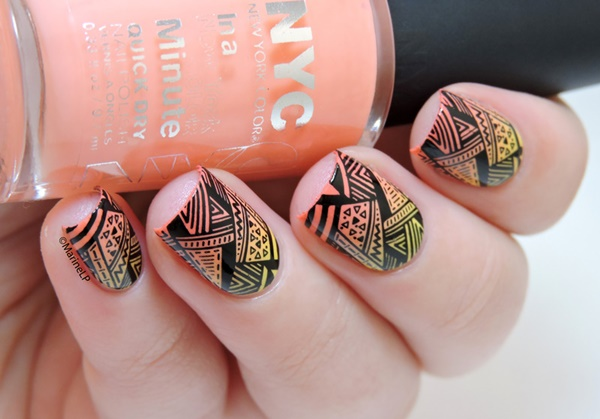 Astonishing Well-Polished Aztec Nail Art - 101 Simple Aztec Nail Art Designs