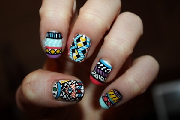 Stunning, Playful, and Colorful Aztec Nail Art - 101 Simple Aztec Nail Art Designs