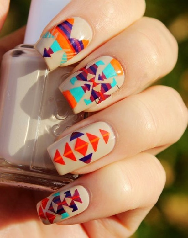 101 simple aztec nail art designs ancient style bohemian nail look prinsesfo Gallery