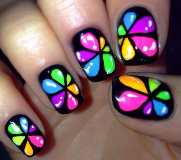 How To Make Rainbow Nail Art Designs