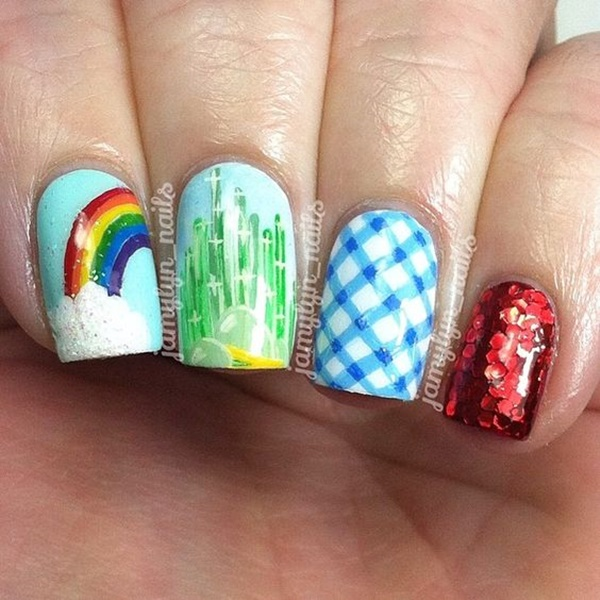 Amazing Background Nail Arts