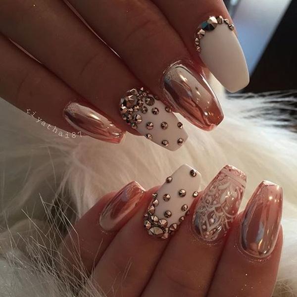 Matte Black Almond Nails - makeupgirl 2018