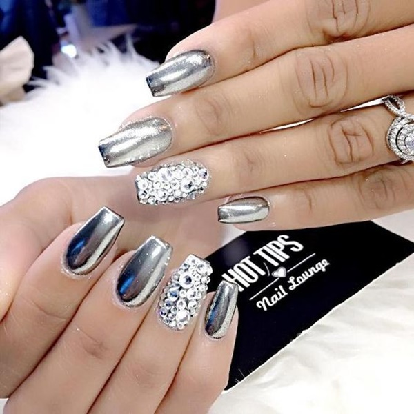 Chrome Nail Art Designs: 99 Best Sexy Chrome Nail Art Designs For 2018