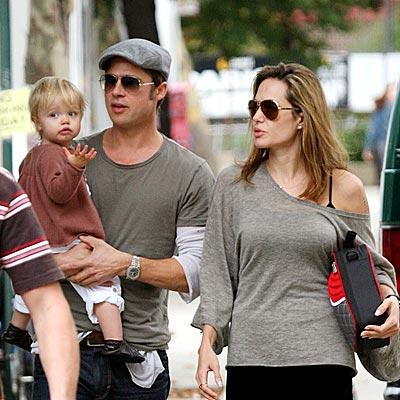 Brad Pitt with kids