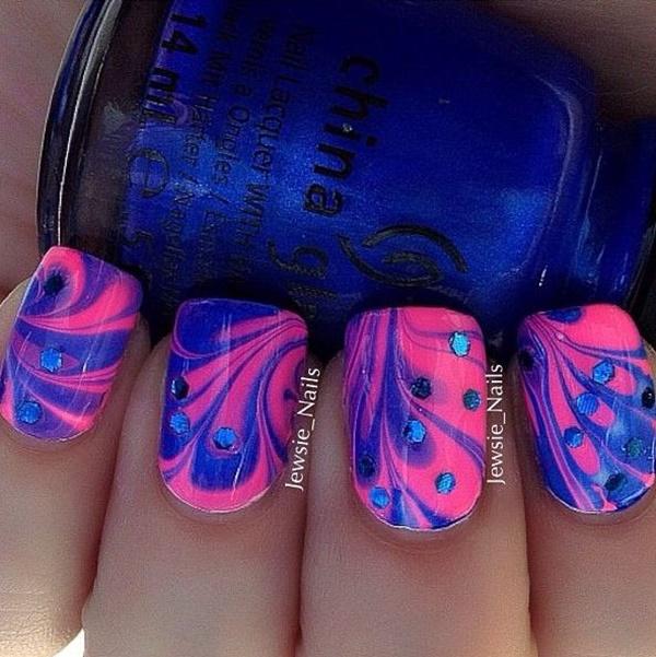marble nail art designs (104)
