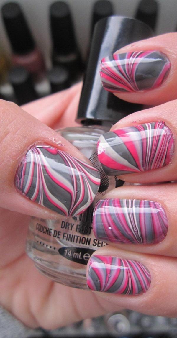 marble nail art designs (14)